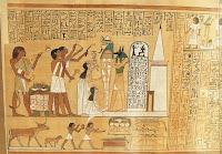 antiguo papiro egipcio