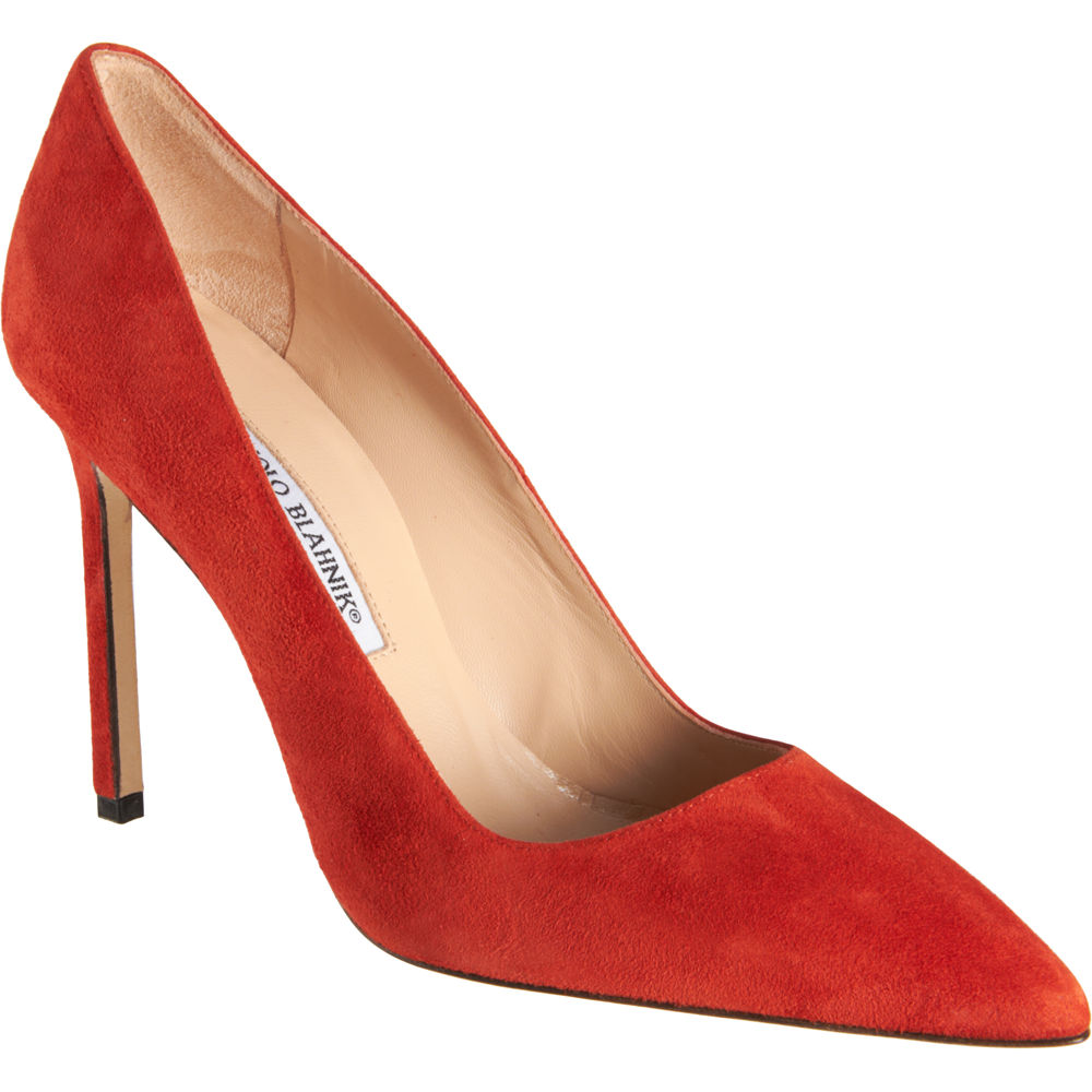 Manolo blahnik bb red suede pumps all about shoes for Shoes by manolo blahnik