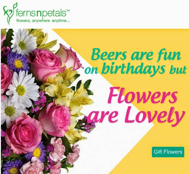 Discount coupon for ferns and petals