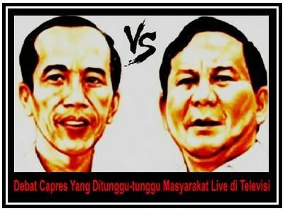 Debat Capres Yang Ditunggu-tunggu Masyarakat Live di Televisi