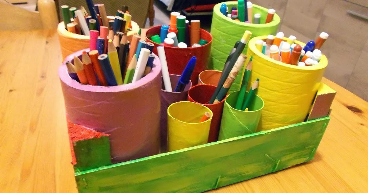 a tous vans joli pot crayons color en carton et bois. Black Bedroom Furniture Sets. Home Design Ideas