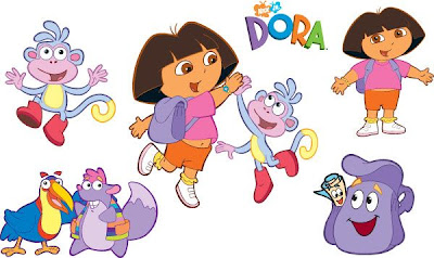 paper craft dora exploradora