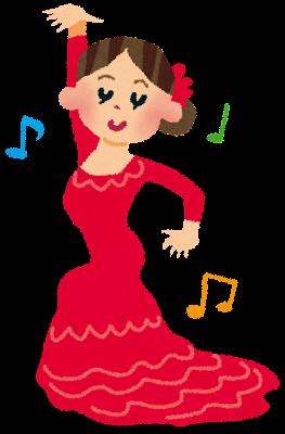 フラメンコのダンサーのイラスト