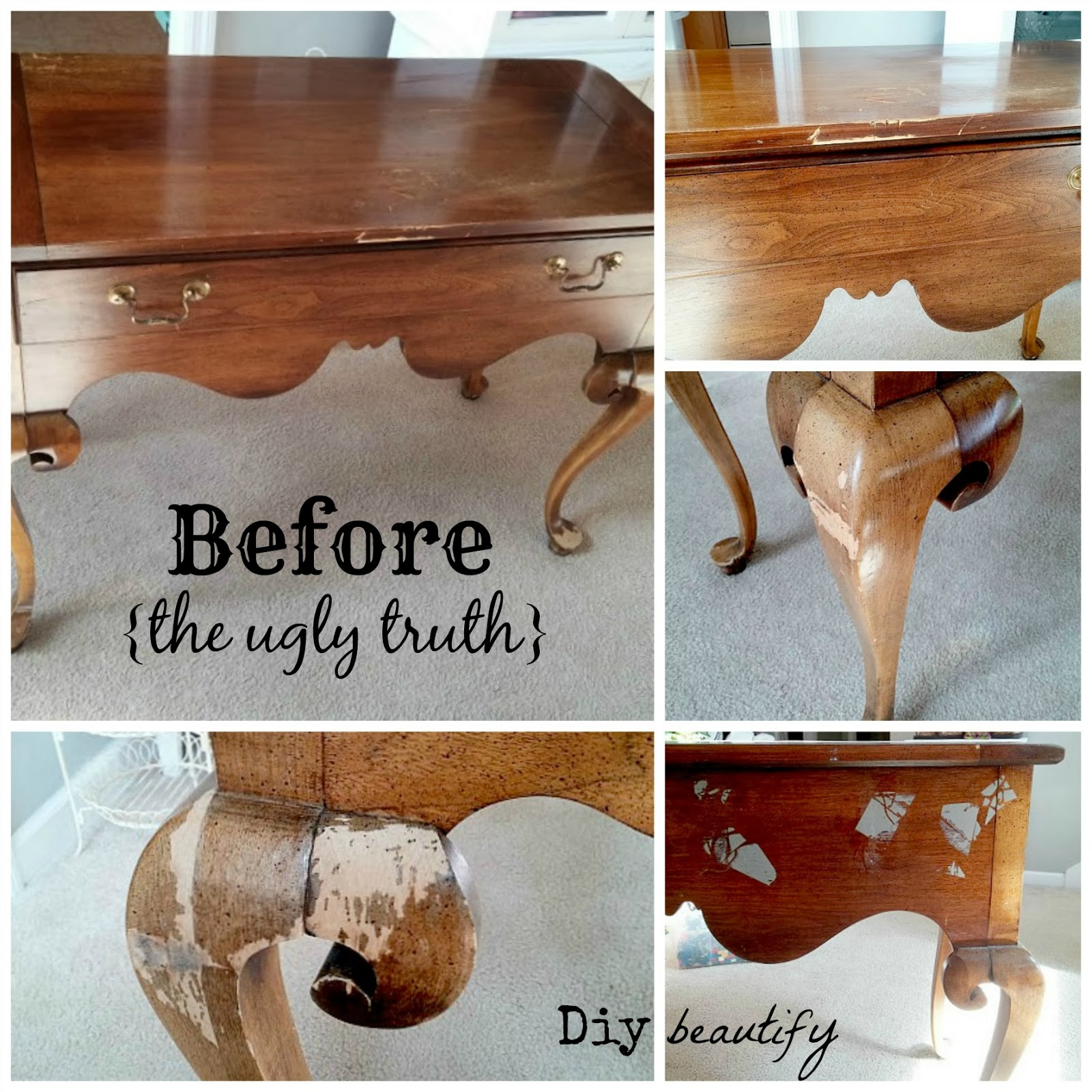 this is a wellmade piece by brandt furniture with the label inside i knew i could make this piece beautiful so i decided to go for it