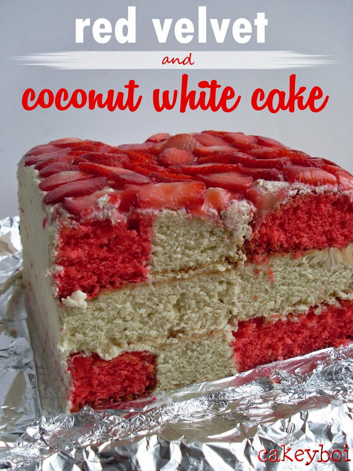 Red Velvet and Coconut White Cake for Eurovision