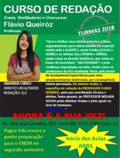 CURSO DE REDAÇÃO COM O PROFESSOR FLÁVIO QUEIROZ