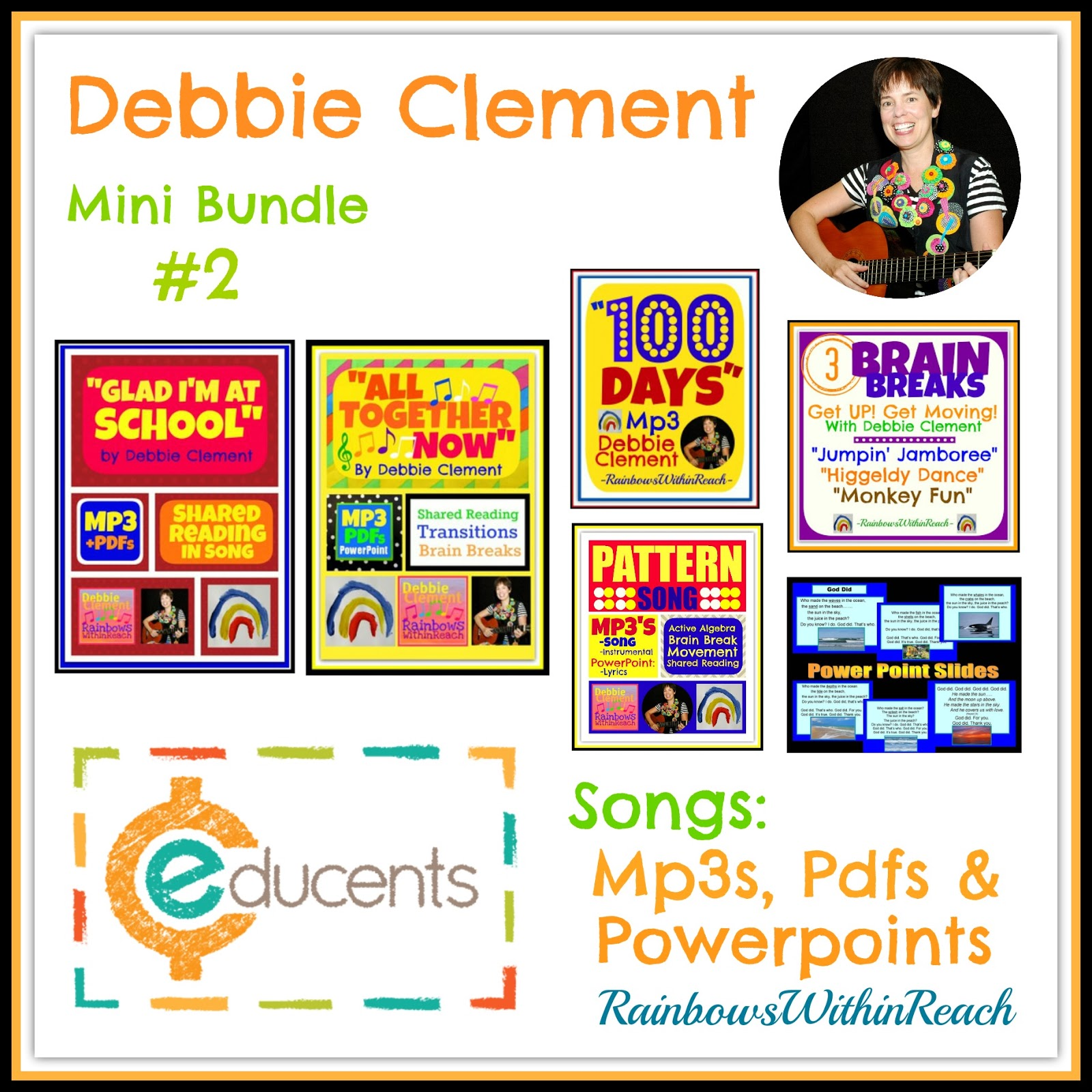 Debbie Clement's Songs in Digital Download with Deep Discount through Educents