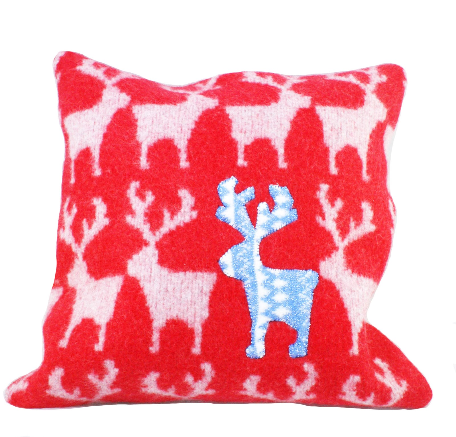 Reindeer Cushion Knitting Pattern : Victoria Logan Knitted Textiles