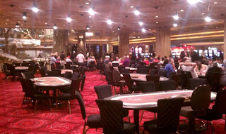 The temporary location for the MGM poker room