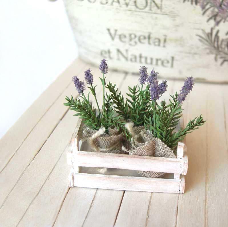 Lavander in miniature for dollhouse