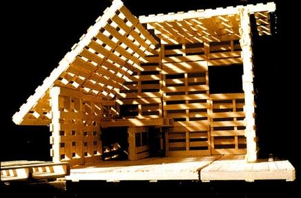 Construccion de casas para refugiados - Estructuras con palets ...