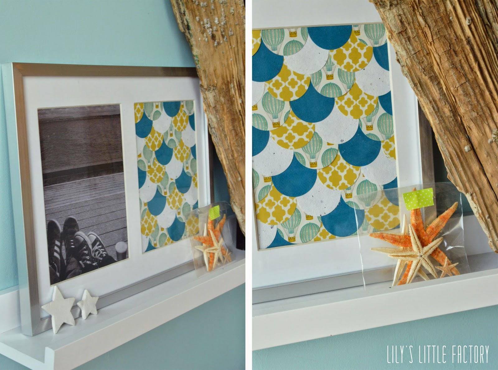 Le cadre photo aux cailles en papier diy lily 39 s - Cadre pour mettre plusieurs photos ...