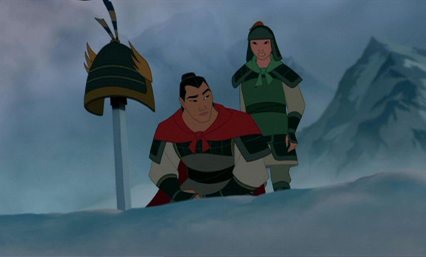 After he finds his father s battle armor  he finds out his father has    Mulan Shang Training
