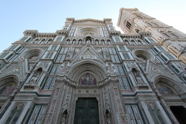 A close up at the Duomo di Firenze, the Florence Cathedral in Florence, Italy