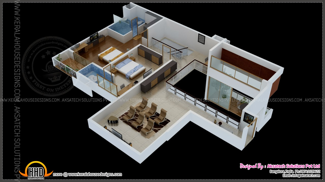 Isometric drawings 3d by aksatech indian house plans for 4 bhk villa interior design