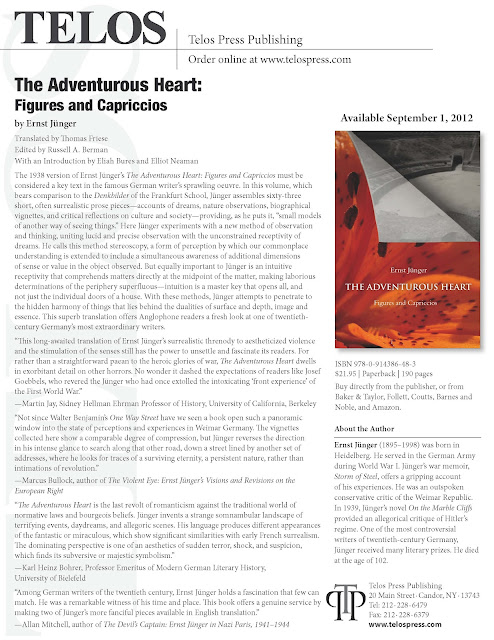 The Adventurous Heart - Figures and Capriccios. Telos Marketing information