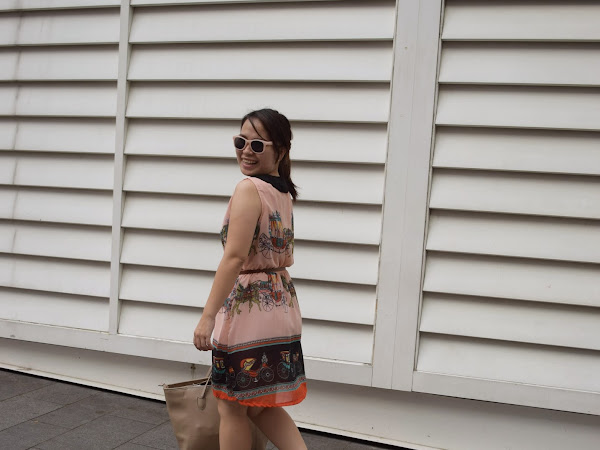 Outfit Diary: Peachy Carriage dress [ One day KL trip]