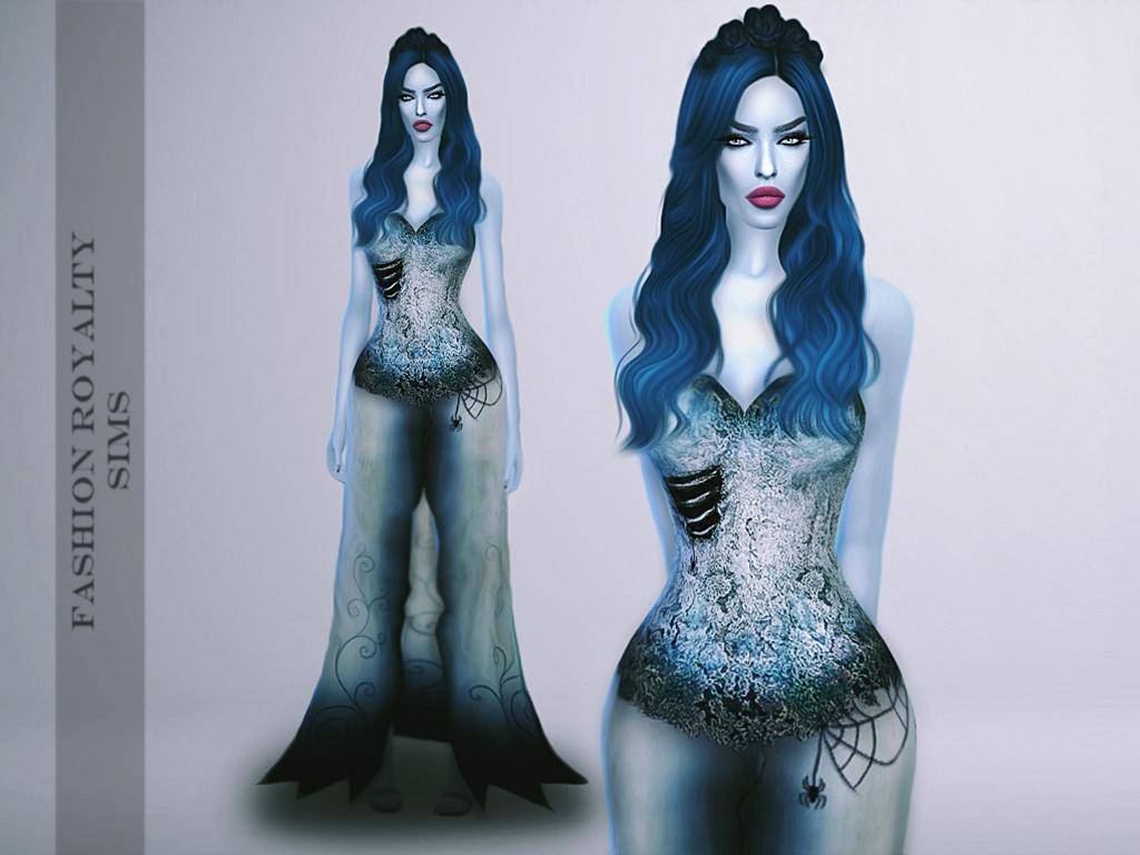 My Sims 4 Blog Corpse Bride Dress Amp Headband By FashionRoyaltySims