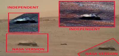 Metallic UFO Spotted On Mars Surface 2015, UFO Sighting News