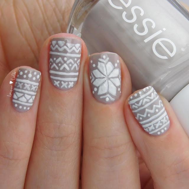 Essie Norweger Nail Design Sweater