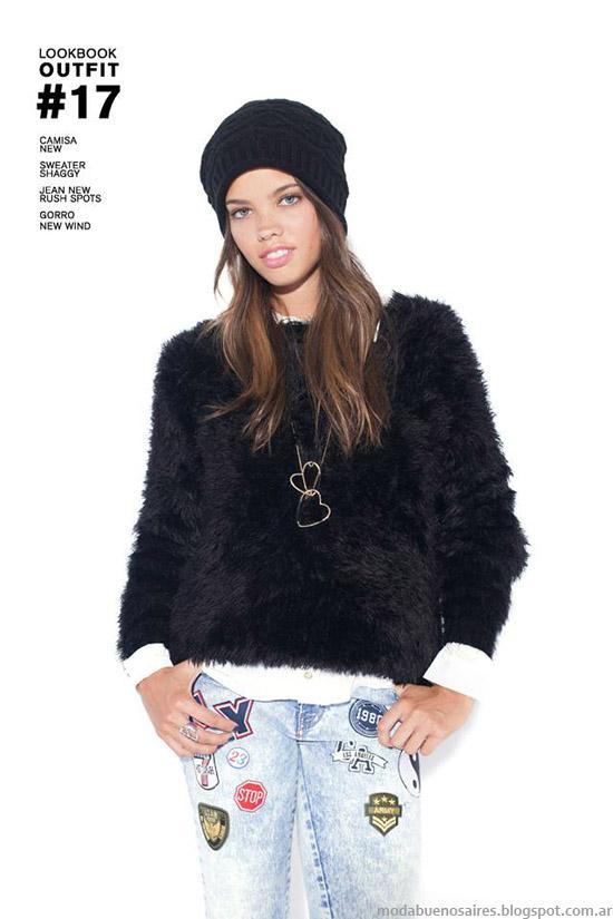 "Sweaters ""peludos"" o de pelo sintetico otoño invierno 2014 47 Street."