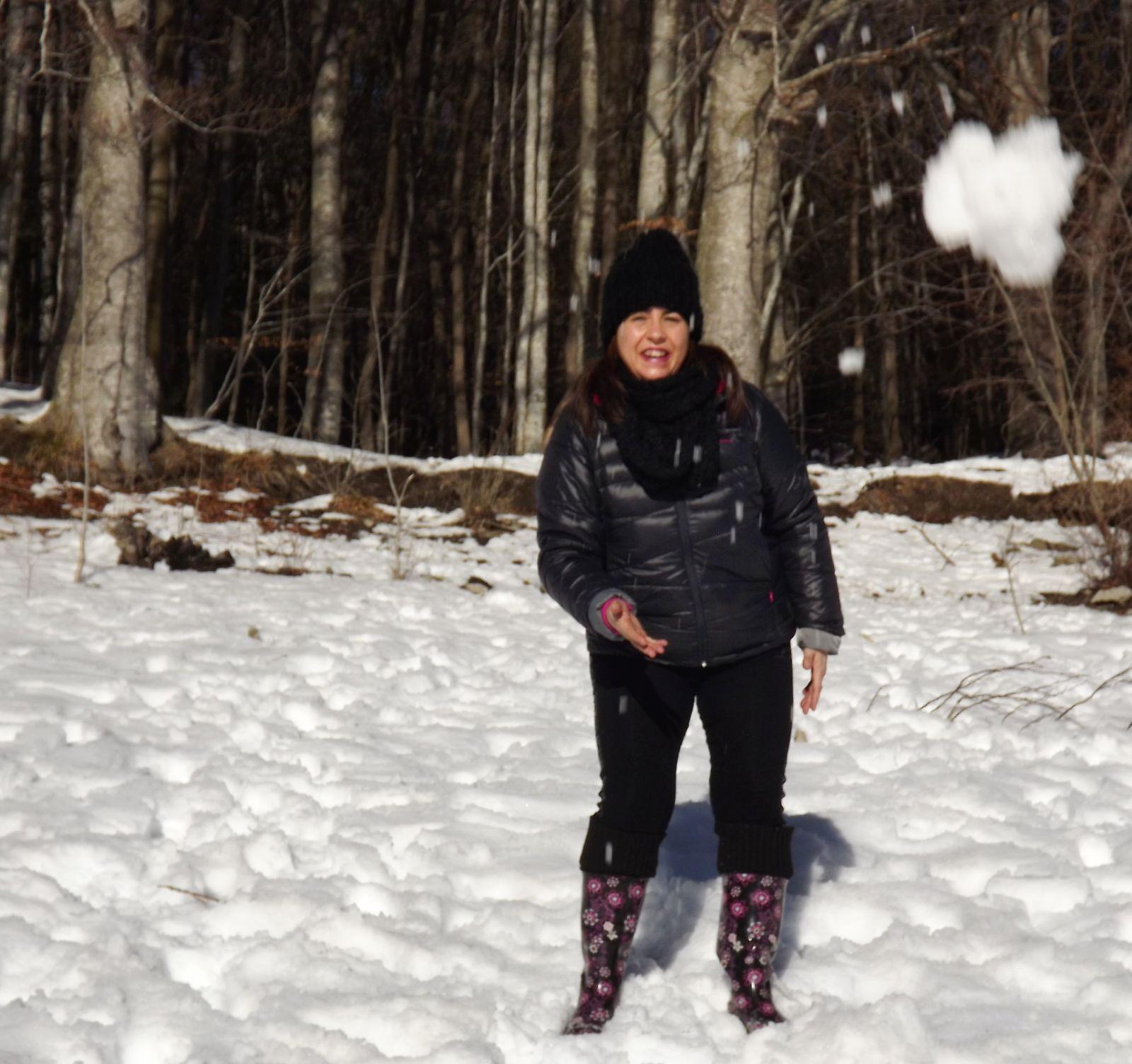 ¡Llegó la nieve!...