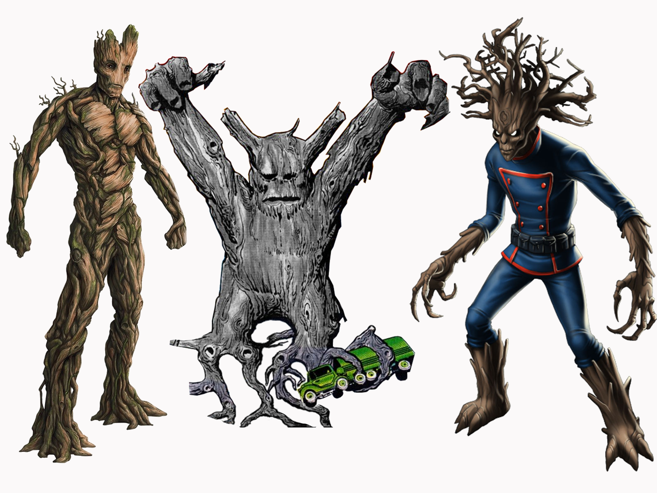 groot and rocket drawing