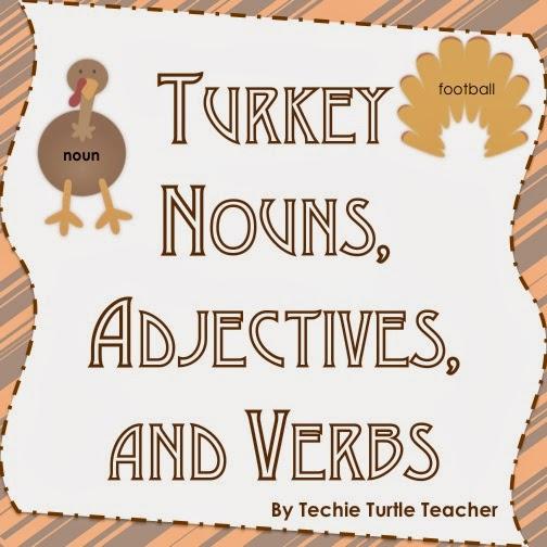 http://www.teacherspayteachers.com/Product/Thanksgiving-Turkey-Nouns-Adjectives-Verbs-Worksheets-and-Center-Activity-954699
