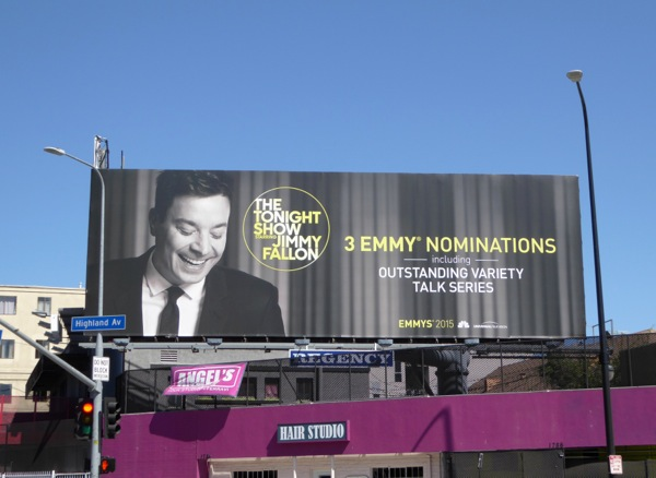 Tonight Show Jimmy Fallon 2015 Emmy billboard