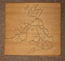 Jigsaw map of UK