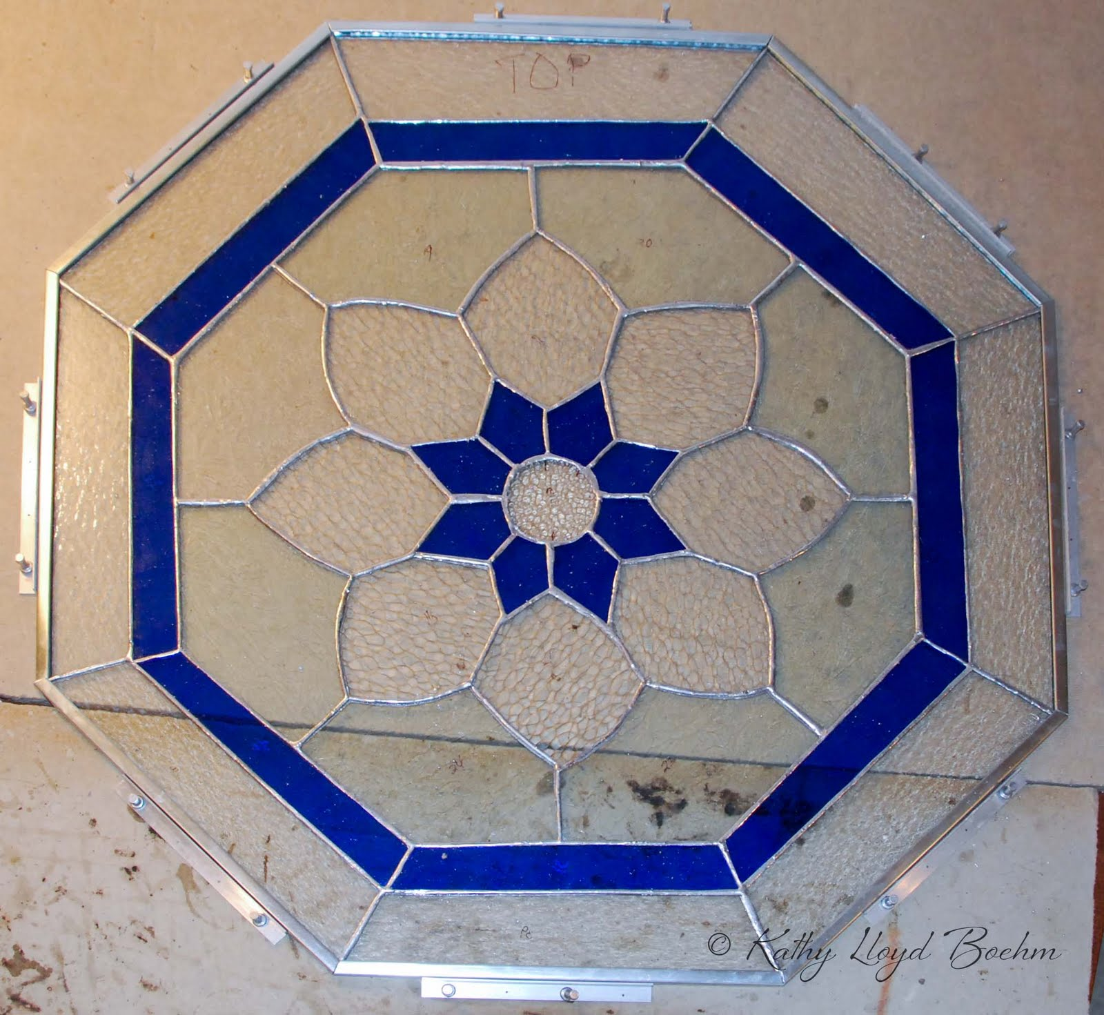 Boehm Stained Glass Blog Octagonal Window Completed
