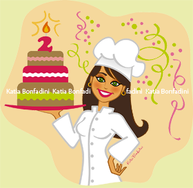 Ilustração comemorativa pelos 2 anos do blog Casos & Coisas da Bonfa