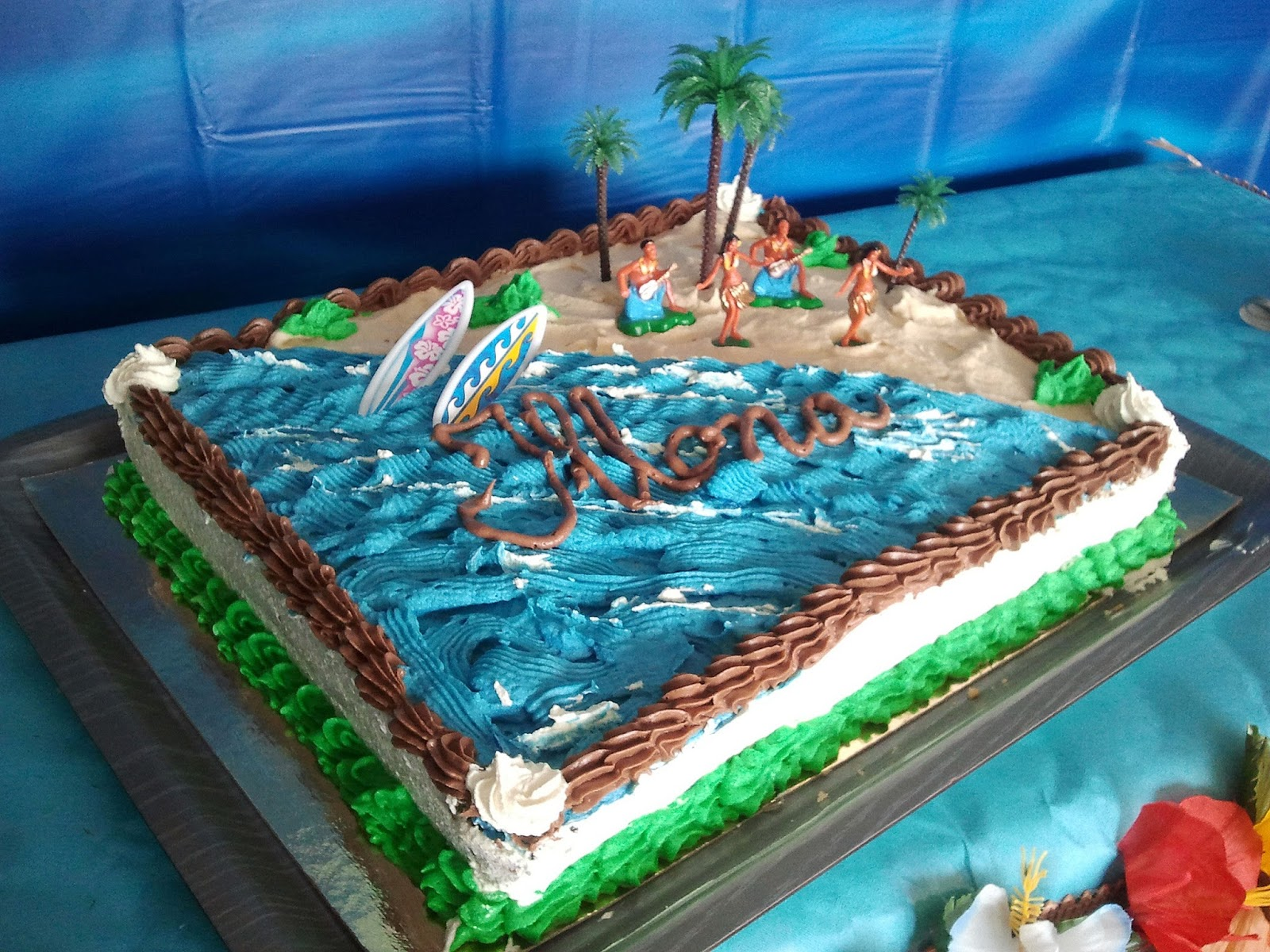 decoration gateau theme mer