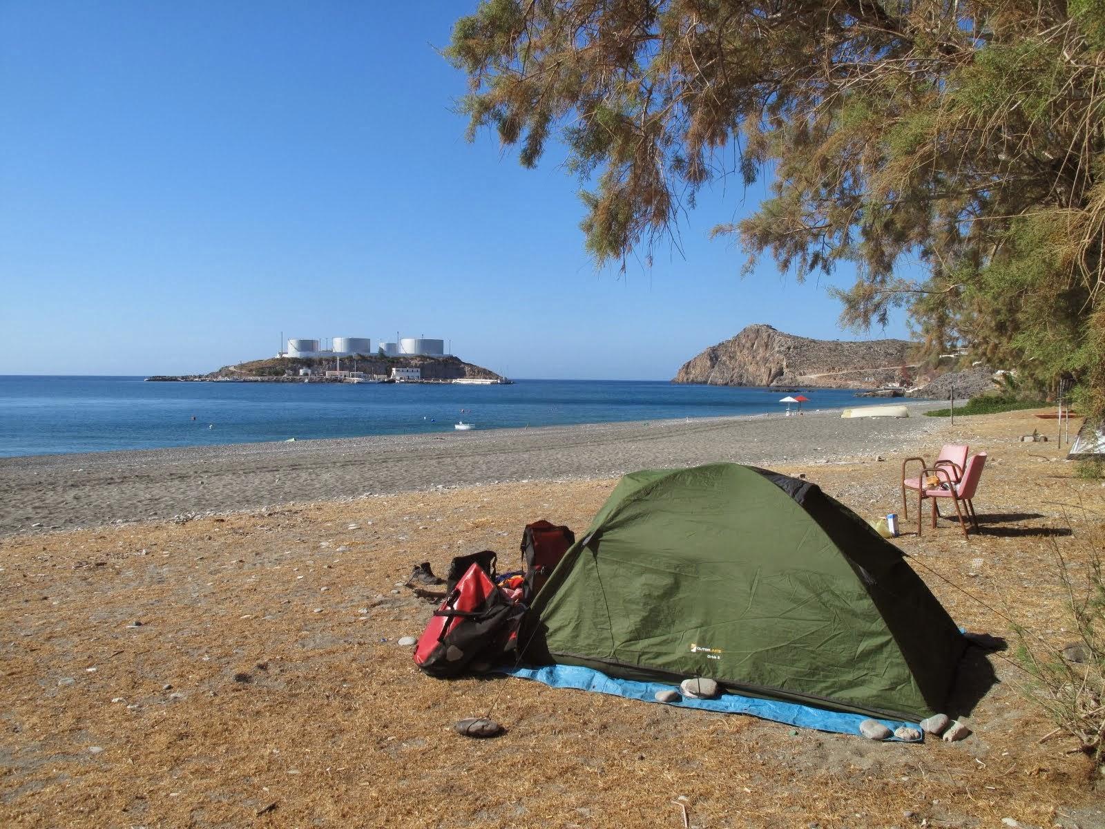 Truco acampar en la playa