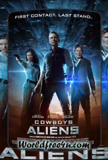 Poster Of Cowboys And Aliens (2011) In Hindi English Dual Audio 300MB Compressed Small Size Pc Movie Free Download Only At Downloadingzoo.Com