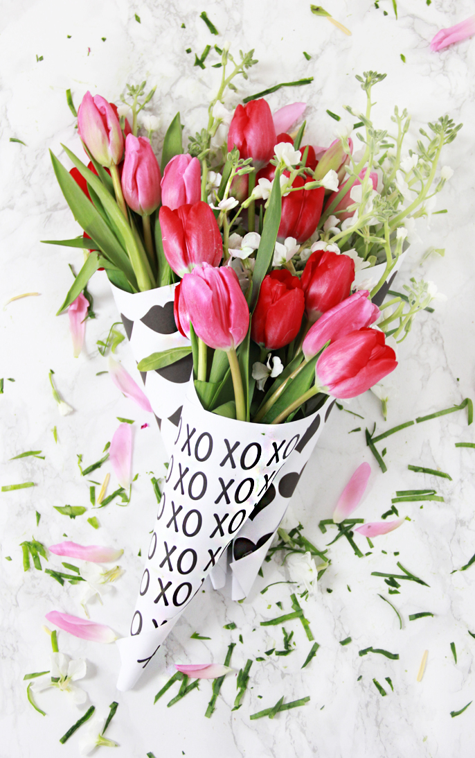 a bubbly life diy valentine free printable flower bouquets, Beautiful flower