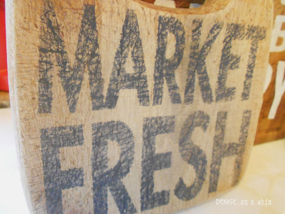 Cutting Board Sign with Distressed Chalk Paint Lettering from Denise on a Whim