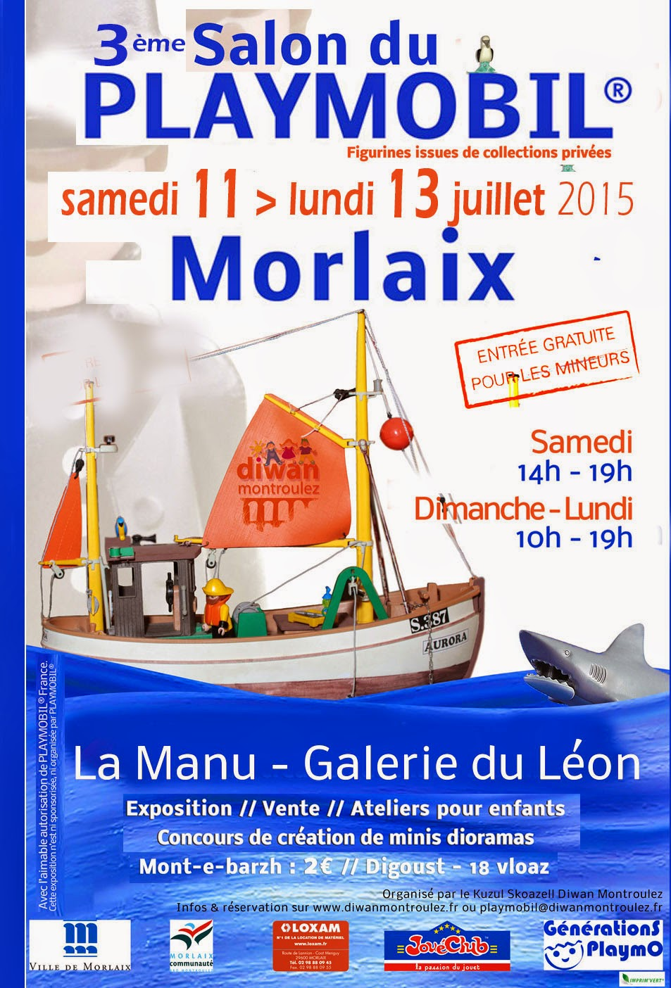 Expo-vente Morlaix, 11-13 juillet 2015