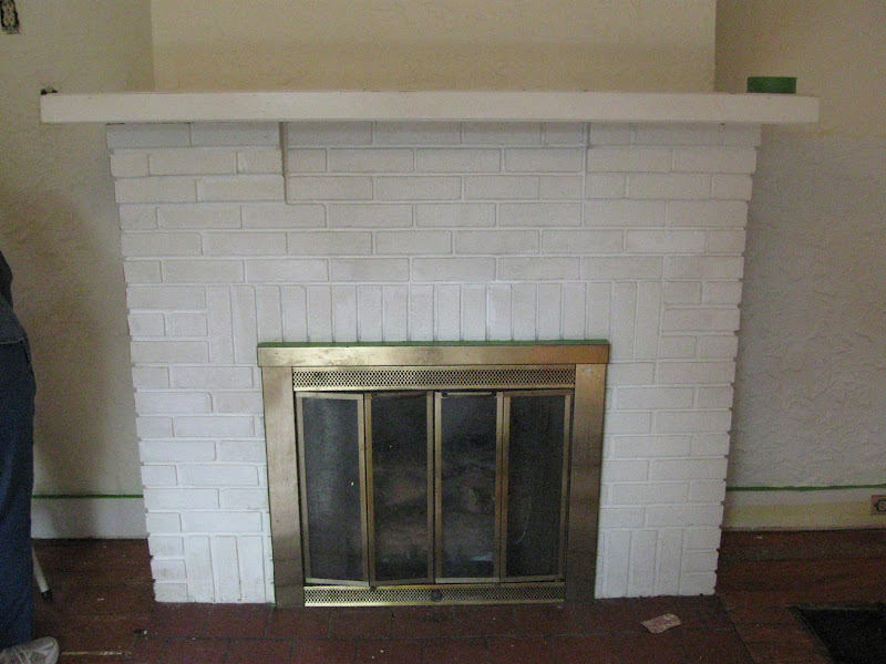 Finding Pheidippides Revamping A Painted Brick Fireplace