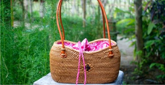 tas cantik dari anyaman ketak lombok