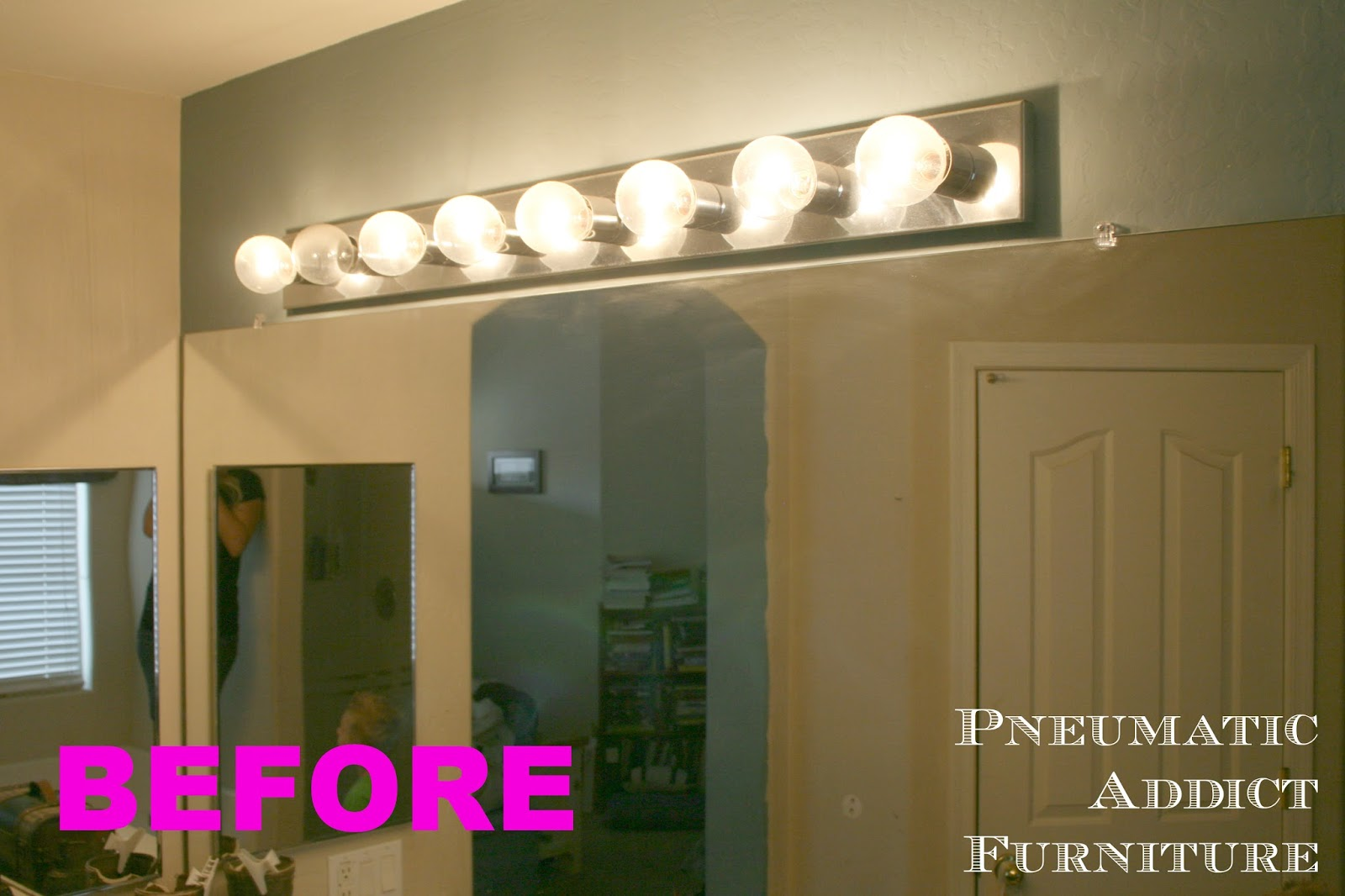 Replace Vanity Light Bar With Two Lights : Pneumatic Addict : Bathroom Upgrade Part 1: Splitting the Vanity Light