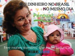 Envie dinheiro para o Brasil pela Wirecash
