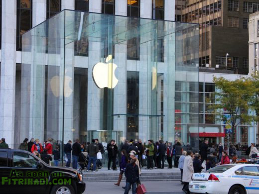 binaan kubik kaabah di new york apple store