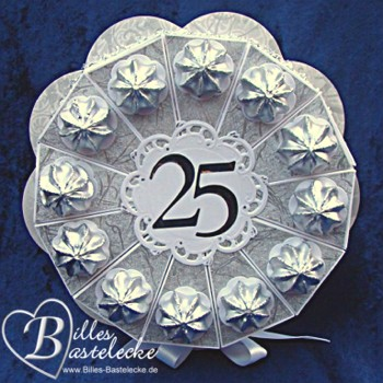Billes bastelblog bastel dir lebensfreude torte zur for Silberhochzeit geschenk basteln