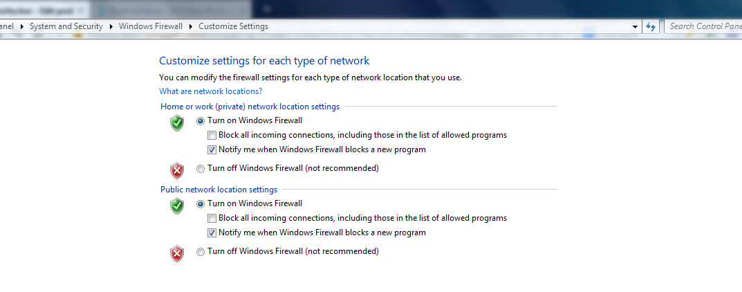 Turn on Windows Firewall -Protect you from malicious network activity