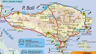 Peta Jalur Mudik Lebaran Lengkap P. Bali