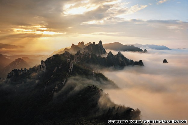 Gongryong Ridge, Seorak Mountain (설악산 신선대 공룡능선)