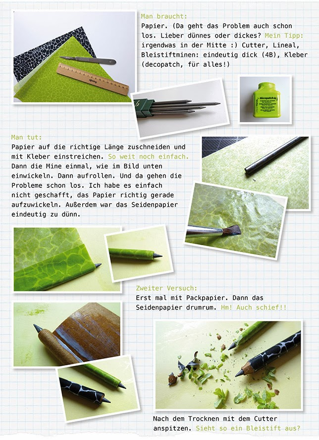 Ynas Design Blog, DIY Homemade Pencils