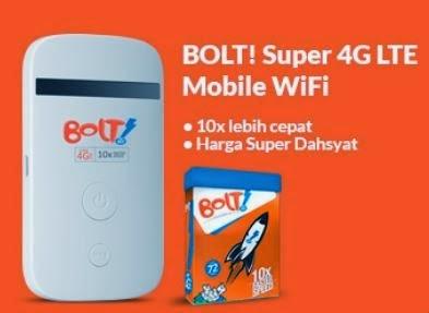 TIPS Cara Daftar Paket Internet BOLT 4G Koneksi Prabayar dan