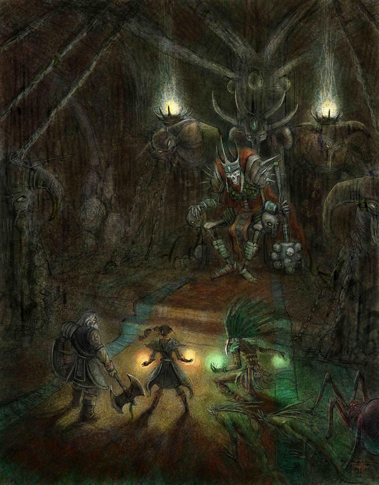 King Leoric party (Bli... Diablo 3 Concept Art